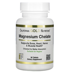 California Gold Nutrition, Magnesium Chelate, 210 mg, 90 Tablets отзывы покупателей