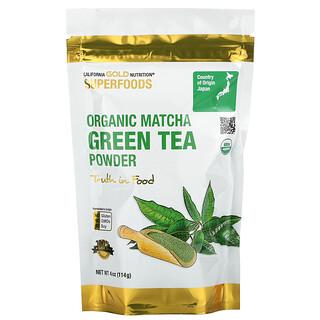 California Gold Nutrition, Superfoods, Té verde de matcha en polvo, 114g (4oz)
