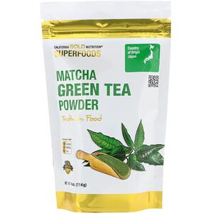 California Gold Nutrition, Superfoods, Matcha Green Tea Powder, 4 oz (114 g) отзывы