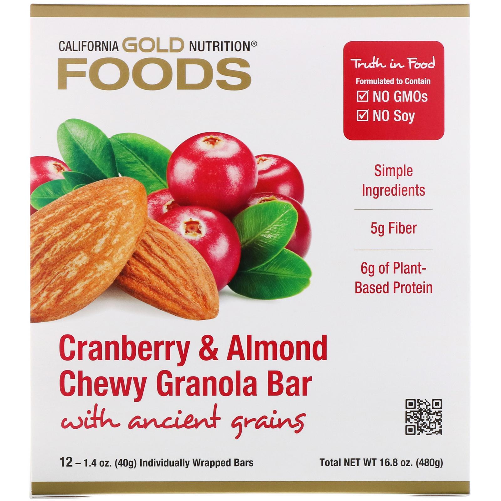 California Gold Nutrition Lebensmittel Cranberry Und