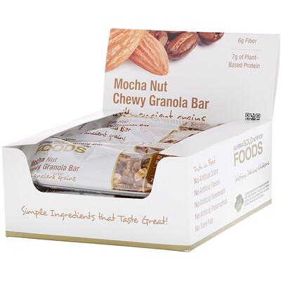 Купить California Gold Nutrition Foods, жевательные батончики-мюсли с кофе мокко и орехами, 12батончиков весом 1, 4унции (40г) каждый