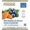 California Gold Nutrition, أغذية، أصابع جرانولا هشة بالتوت الأزرق البري واللوز، 12 قطعة، 1.4 أوقية(40 غرام) للقطعة
