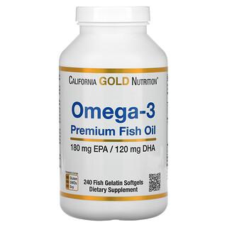 California Gold Nutrition, 欧米伽-3,优质鱼油,240 粒鱼明胶软凝胶