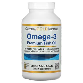 California Gold Nutrition, Omega-3, Premium-Fischöl, 240Fischgelatine-Weichkapseln