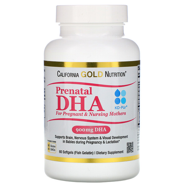 Prenatal DHA for Pregnant & Nursing Mothers, 900 mg Per Serving, 60 Softgels