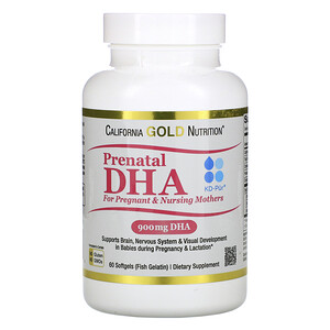 California Gold Nutrition, Prenatal DHA for Pregnant & Nursing Mothers, 900 mg Per Serving, 60 Softgels отзывы покупателей