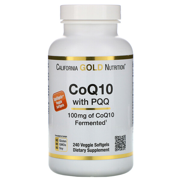 CoQ10 con PQQ, 100 mg, 240 cápsulas blandas vegetarianas