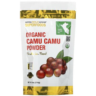 Купить California Gold Nutrition органический порошок из каму-каму, 114г (4унции)