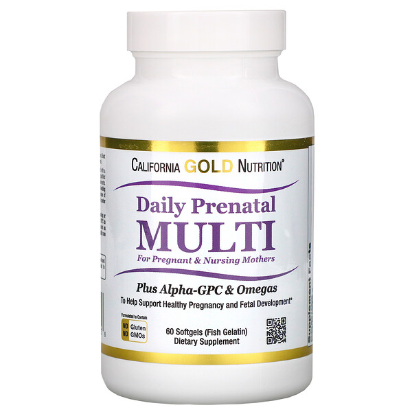 Prenatal Multi for Pregnant & Nursing Mothers, 60 Fish Gelatin Softgels
