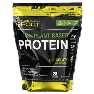 California Gold Nutrition, Растительный протеин со вкусом шоколада, веганский, легкоусвояемый, 907г (2фунта)