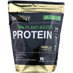 California Gold Nutrition, Vanilla Plant-Based Protein, Vegan, Easy to Digest, 2 lb (907 g)
