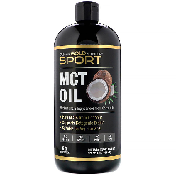 California Gold Nutrition, Sport, MCT Oil, 32 fl oz (946 ml)