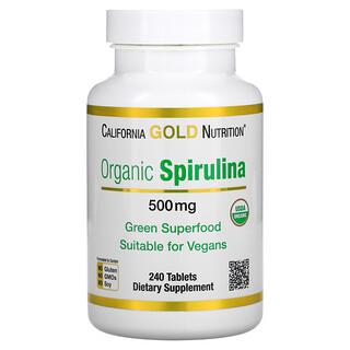 California Gold Nutrition, 有机螺旋藻,USDA 有机,500 毫克,240 片