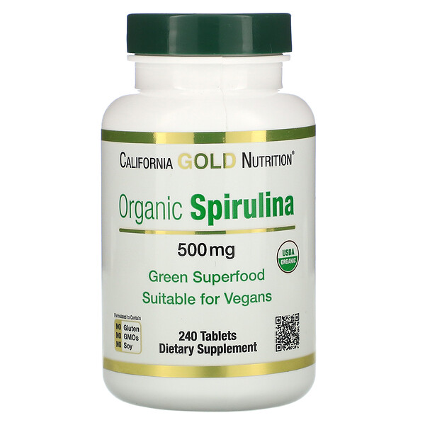 Organic Spirulina, 500 mg, 240 Tablets