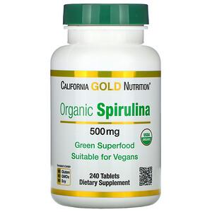 California Gold Nutrition, Organic Spirulina, USDA Organic, 500 mg, 240 Tablets отзывы