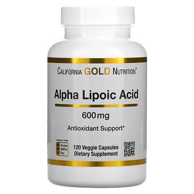 Купить California Gold Nutrition альфа-липоевая кислота, 600мг, 120растительных капсул