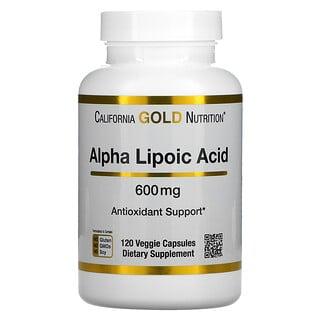 California Gold Nutrition, Alpha Lipoic Acid, 600 mg, 120 Veggie Capsules