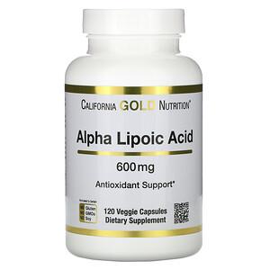 California Gold Nutrition, Alpha Lipoic Acid, 600 mg, 120 Veggie Capsules отзывы покупателей