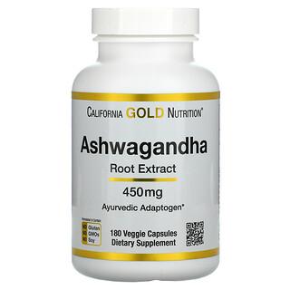 California Gold Nutrition, Ashwagandha, 450 mg, 180 Veggie Capsules