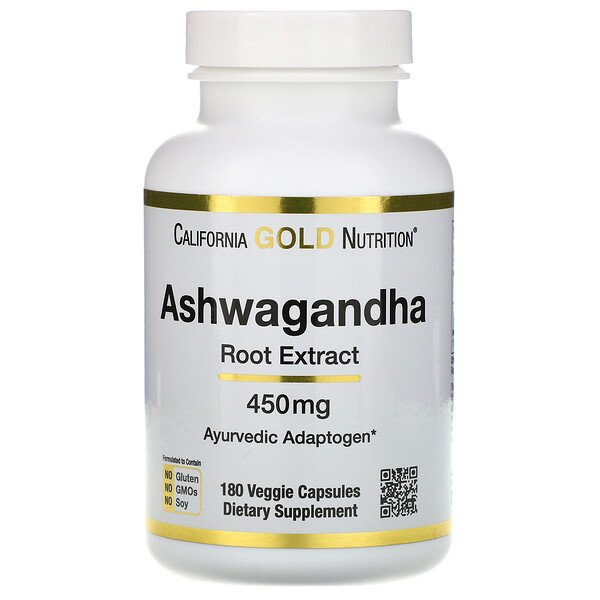 California Gold Nutrition, Ashwagandha, 450 mg, 180 Veggie Capsules