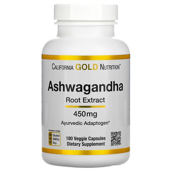 Ashwagandha, 450 mg, 180 Cápsulas Vegetais