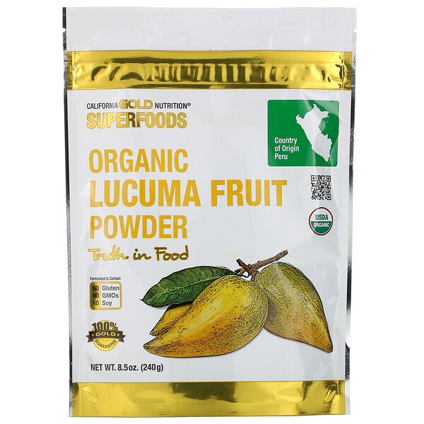 California Gold Nutrition, Superfoods, Organic Lucuma Fruit Powder, 8.5 oz (240 g)
