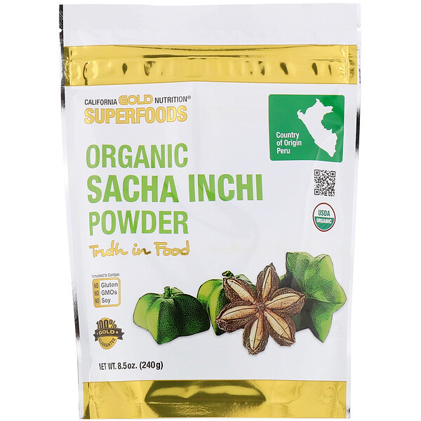 California Gold Nutrition, Superfoods, Organic Sacha Inchi Powder, 8.5 oz (240 g)