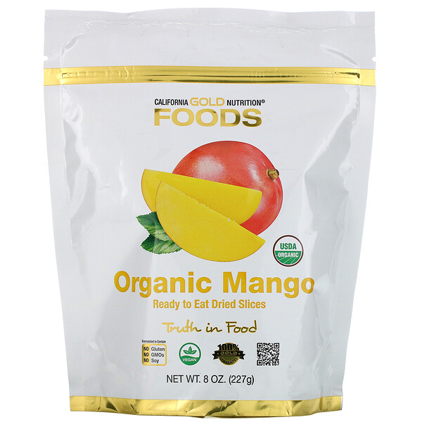Organic Mango, Ready to Eat Dried Slices, 8 oz (227 g)