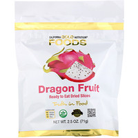 California Gold Nutrition, Dragon Fruit, Ready to Eat Dried Slices, 2.5 oz (71 g)