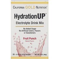 California Gold Nutrition, HydrationUP,電解質混合飲料粉,水果賓治,20 小包,每包 0.15 盎司(4.2 克)