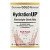 California Gold Nutrition, HydrationUP, Mezcla para preparar bebidas con electrolitos, Ponche de frutas, 20 Sobres, 4,2g (0,15oz) Cada uno