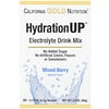 California Gold Nutrition, HydrationUP, Electrolyte Drink Mix, Mixed Berry, 20 Packets, 0.17 oz (4.7 g) Each