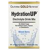 California Gold Nutrition, HydrationUP, mezcla para preparar bebidas con electrolitos, mezcla de bayas, 20 paquetes, 4,7g (0,17oz) cada uno