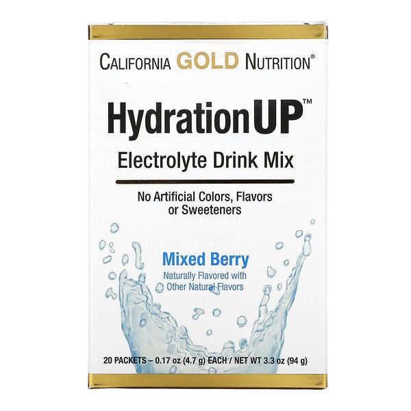 HydrationUP, Electrolyte Drink Mix, Mixed Berry, 20 Packets, 0.17 oz (4.7 g) Each