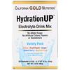 California Gold Nutrition, HydrationUP, mezcla para preparar bebidas con electrolitos, pack surtido, 20 paquetes, 4,2g (0,15oz) cada uno