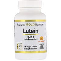 Лютеин с зеаксантином, 20 мг, 120 растительных мягких таблеток - фото