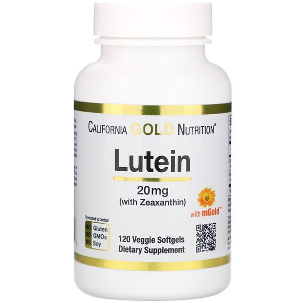 California Gold Nutrition, Lutein with Zeaxanthin, 20 mg, 120 Veggie Softgels