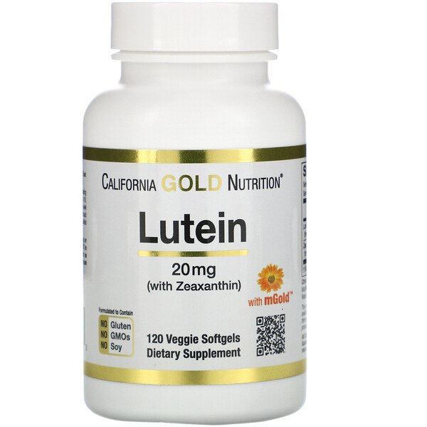 Lutein with Zeaxanthin, 20 mg, 120 Veggie Softgels