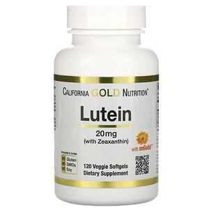 California Gold Nutrition, Lutein with Zeaxanthin, 20 mg, 120 Veggie Softgels отзывы покупателей