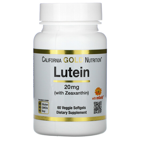 Lutein with Zeaxanthin, 20 mg, 60 Veggie Softgels