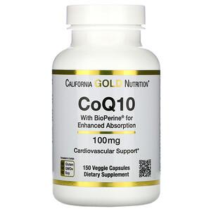California Gold Nutrition, CoQ10 USP with Bioperine, 100 mg, 150 Veggie Capsules отзывы покупателей