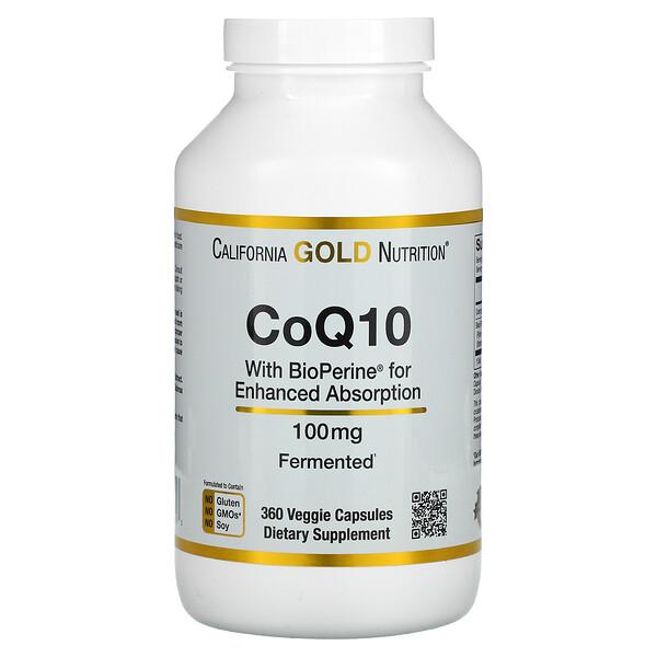 CoQ10 USP with Bioperine, 100 mg, 360 Veggie Capsules