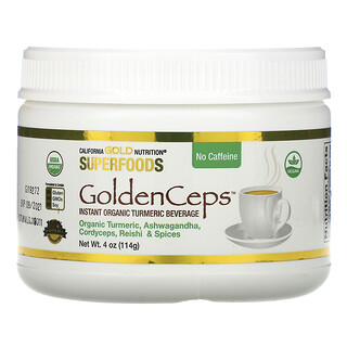 California Gold Nutrition, GoldenCeps, Organic Turmeric with Adaptogens, 4 oz (114 g)