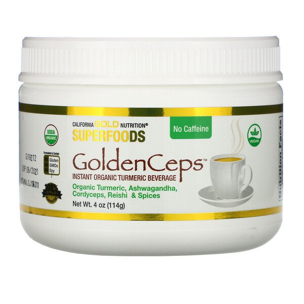 GoldenCeps, Organic Turmeric with Adaptogens, 4 oz (114 g)