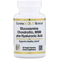 Glucosamine Chondroitin, MSM plus Hyaluronic Acid, 60 Veggie Capsules - фото