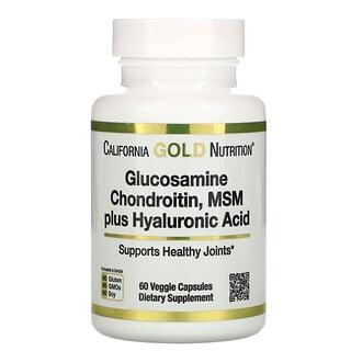 California Gold Nutrition, グルコサミン、コンドロイチン、メチルスルホニルメタン+ヒアルロン酸、ベジカプセル60粒