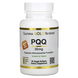 California Gold Nutrition, PQQ, 20mg, 90vegetarische Weichkapseln