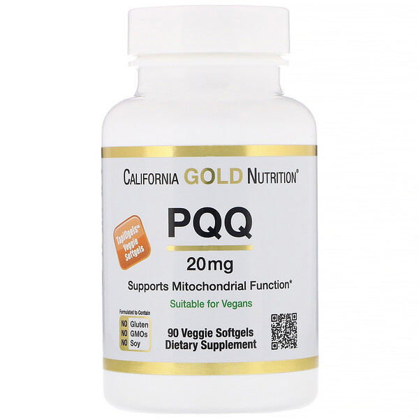 California Gold Nutrition, PQQ, 20 mg, 90 Veggie Softgels