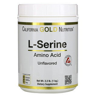 California Gold Nutrition, L-serina, AjiPure, Polvo sin sabor, 1kg (2,2lb)