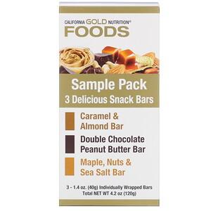 California Gold Nutrition, Foods, Sample Snack Bar Pack, 3 Bars, 1.4 oz (40 g) Each отзывы покупателей